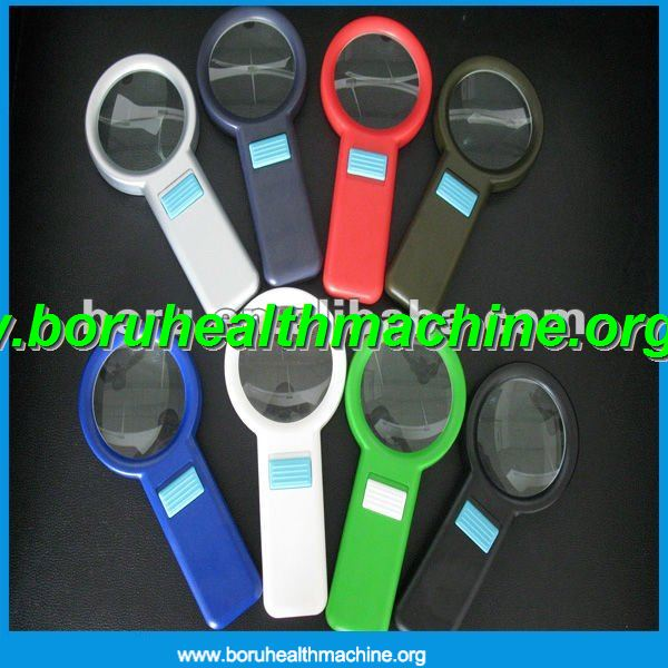 fashion handle multifunction 3X magnifying glass with10 Led