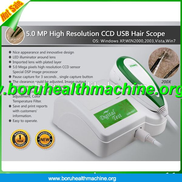 Newest portable Hair Analyzer/Skin Analyzer supported CE certification