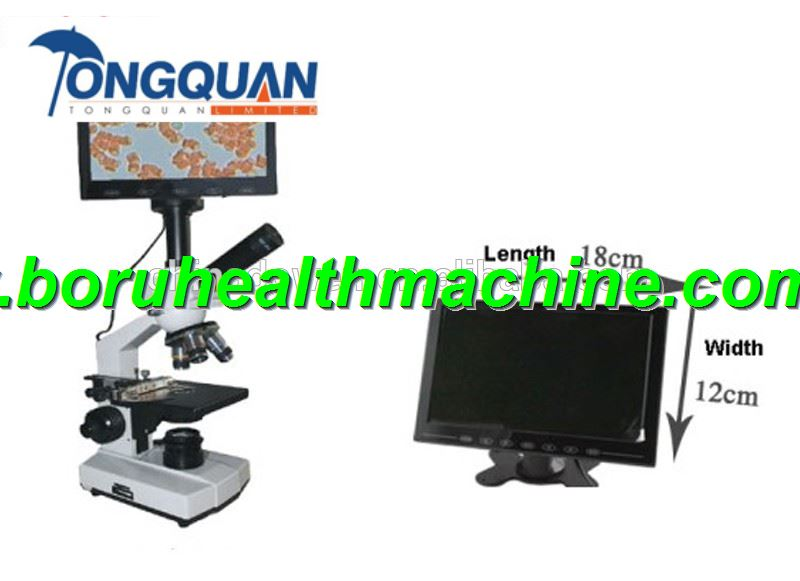 40-1600X LCD Display Monocular Biological Microscope
