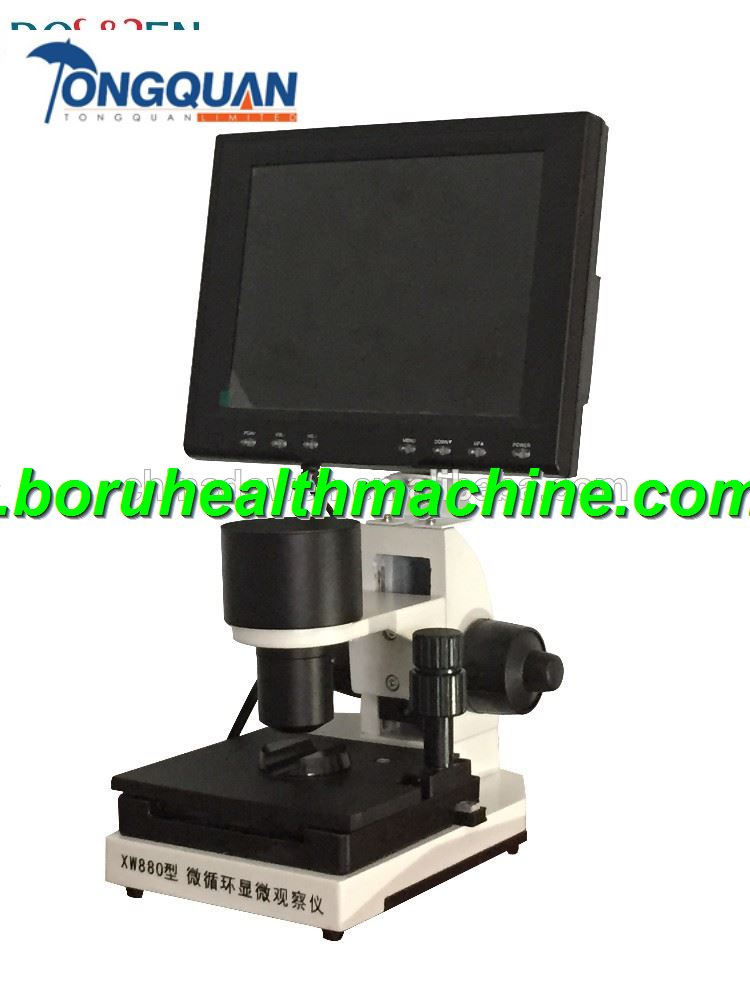 Colour LCD Display XW880 Type Capillaroscope Microcirculation Microscope