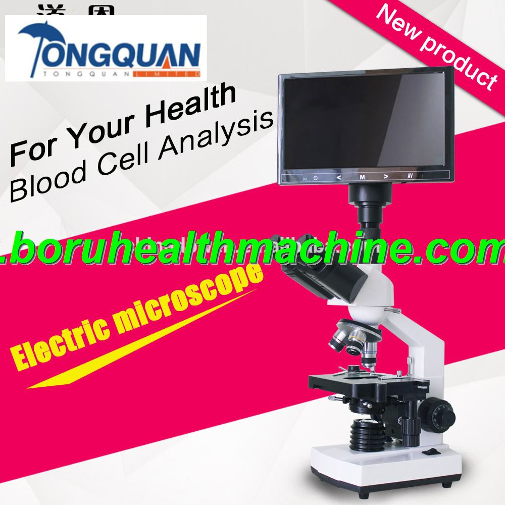 Blood Cells Analysis Binocular Electric Microscope With LCD Monitor