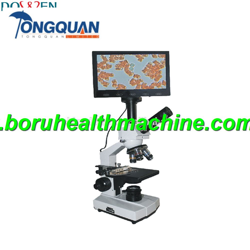 Medical Optical Biological Microscope With LCD