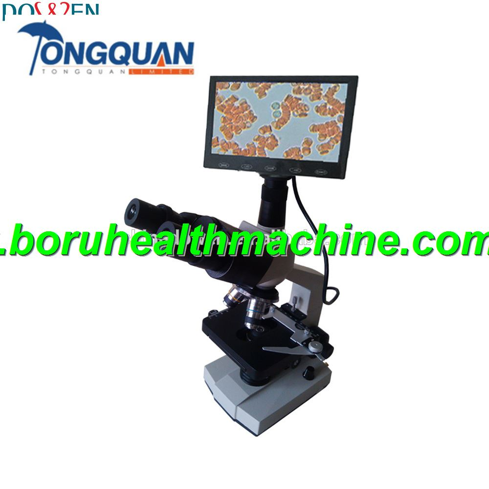 360 Degree Rotating Head LCD CCD Binocular Video Microscope