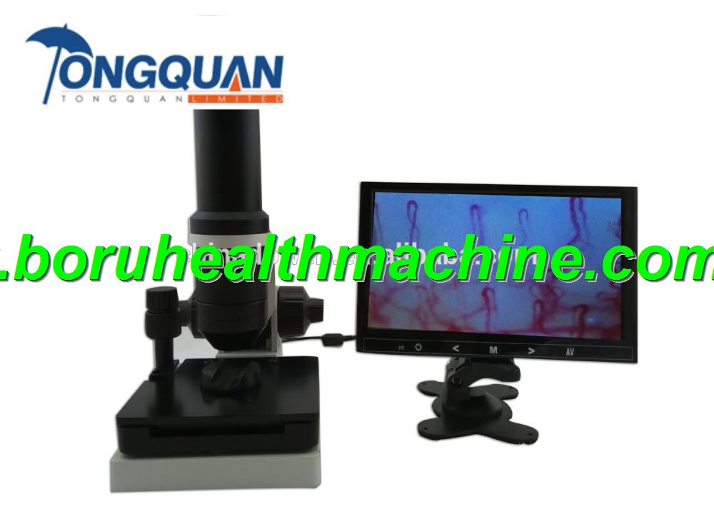LCD Display Colour Clincial Blood Analysis Microcirculation Microscope
