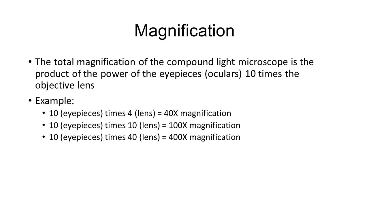 what is the total magnification of a microscope